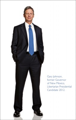 Gary Johnson former Governor of New Mexico, Libertarian candidate
