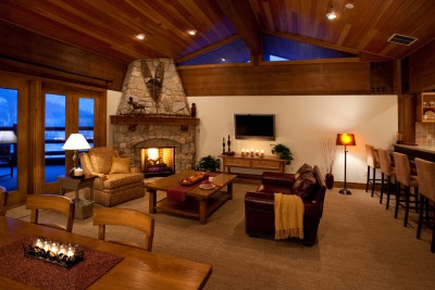 architectural interior photograph of delux mountain home in Deer Valley, Utah