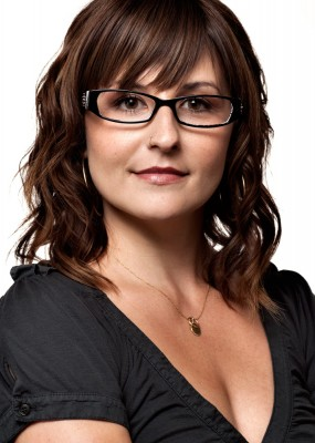 headshot of attractive young woman wearing fashion eyewear by utah advertising photographer Derek Smith