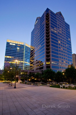 architectural photograph of the Utah One office building in Salt Lake City Utah