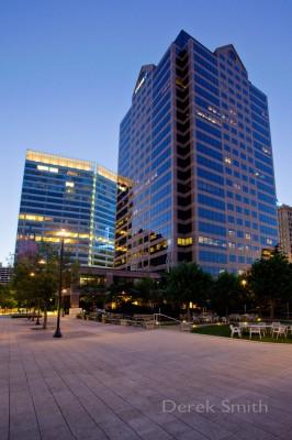 Exterior photograph of the Utah One building at the Gallivan Center in Salt Lake City Utah